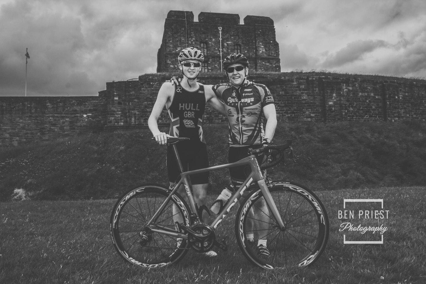 Team GB Triathlete – Jordan Hull – Cumbrian Ambassador for the World Health Innovation Summit, with Gareth Presch no.8